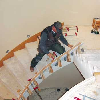 Using Bending Rail JLC Online Staircases Porches