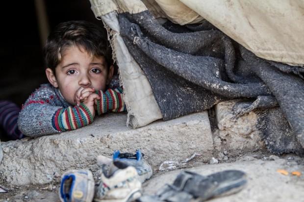 Hakim y el frío de los niños de Siria