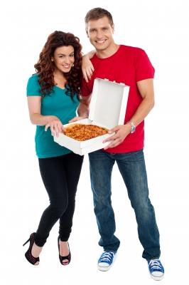 Compartir pizza_ stockimages