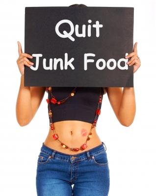 Deja la comida basura