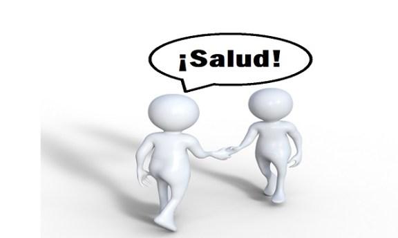 ¿De dónde provine utilizar la exclamación '¡Salud!' para saludar o despedirse de alguien?