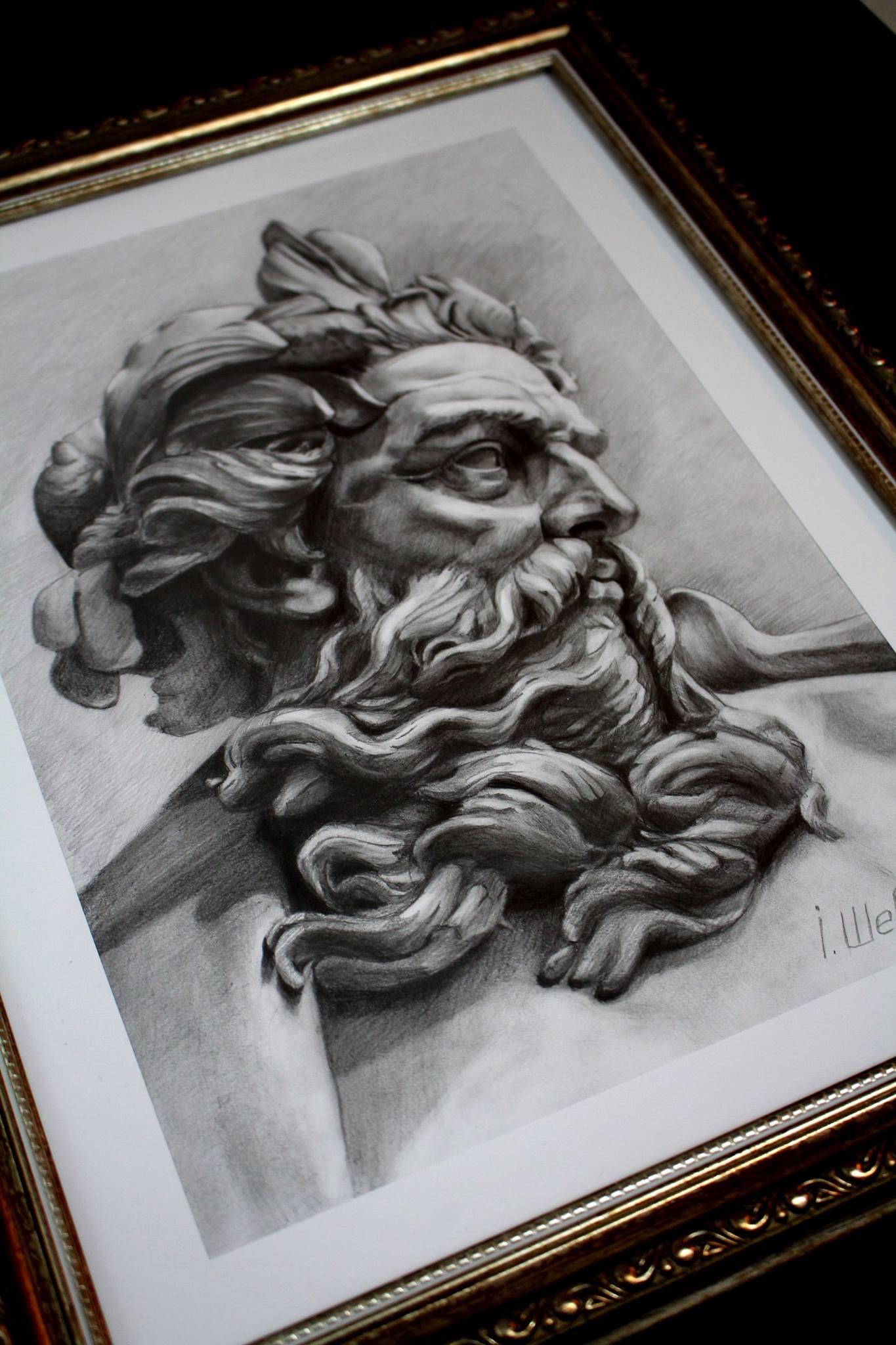 Artstation Poseidon Statue Igor Shevchenko