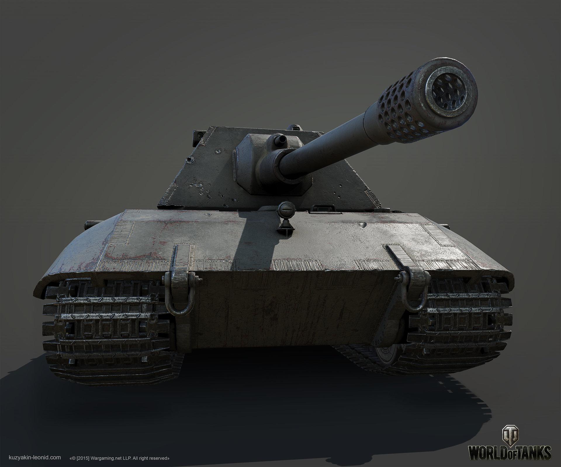 ArtStation - E100 German heavy tank, Leonid Kuzyakin