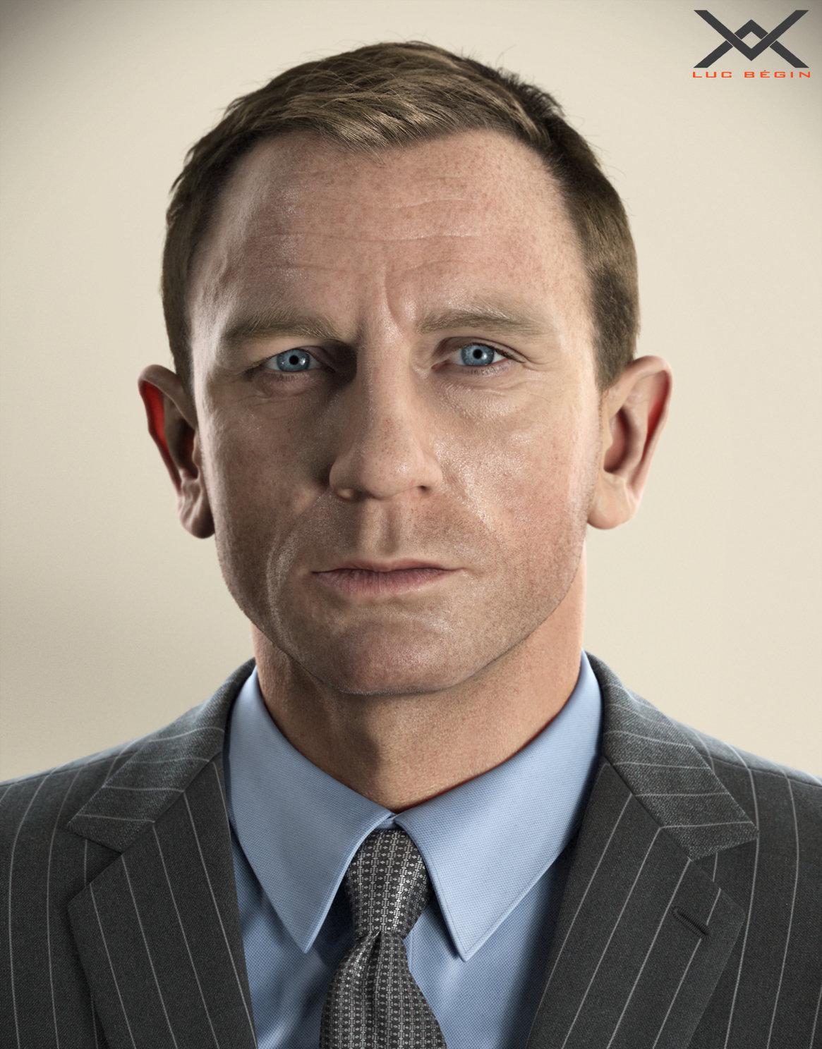 ArtStation Daniel Craig Portrait Luc Bgin