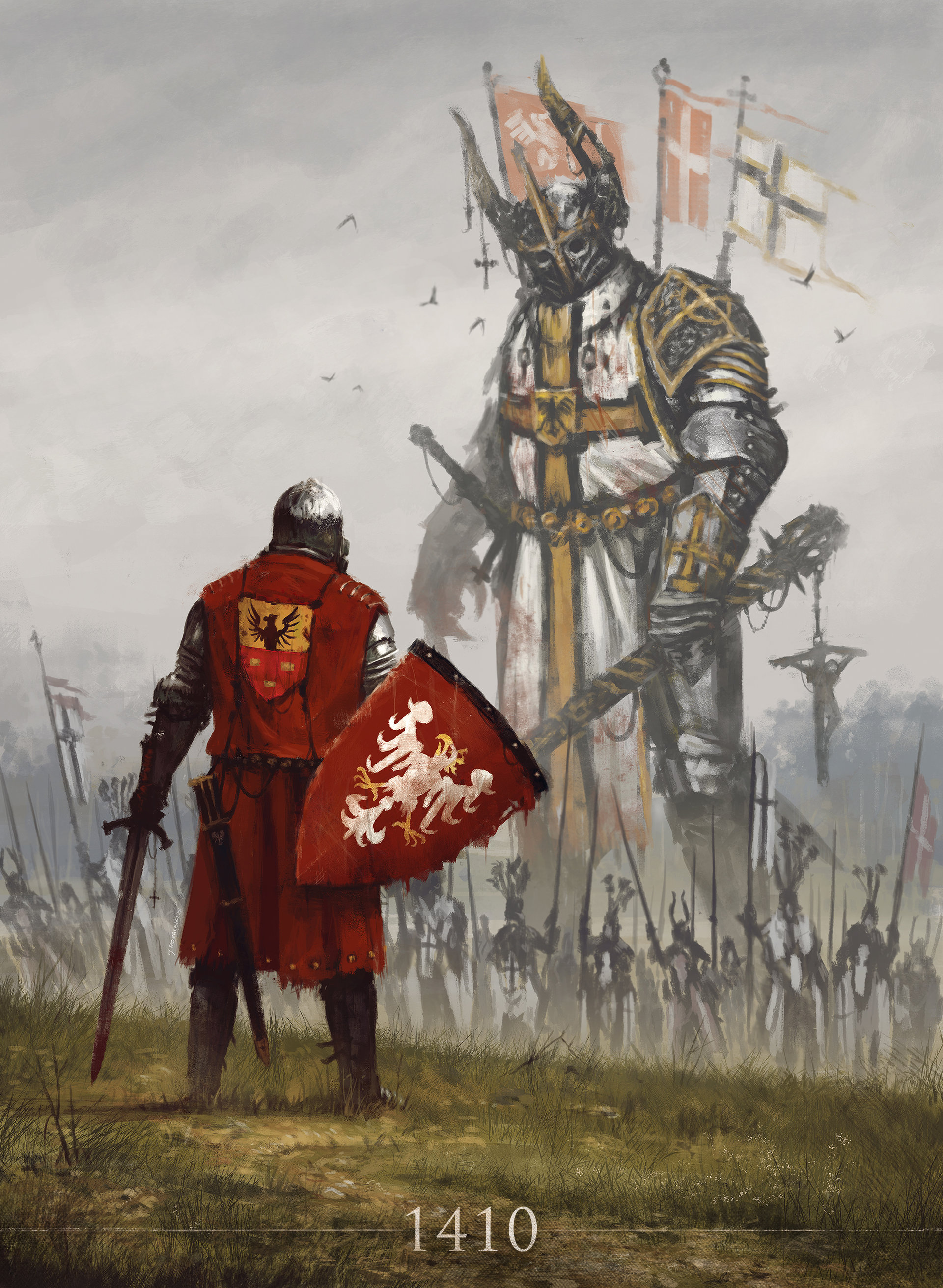 Knights Middle Ages Drawing