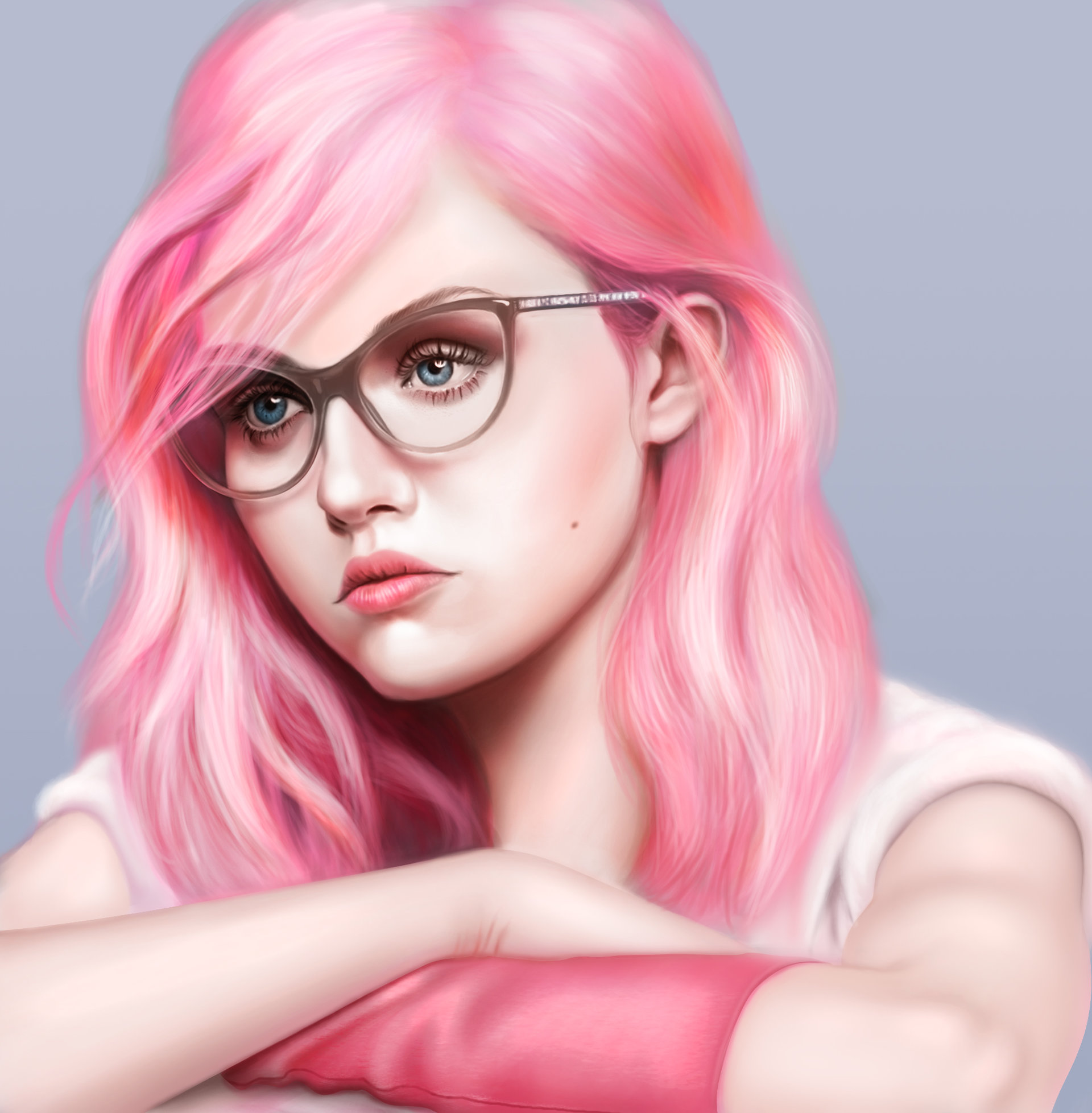 ArtStation Portrait Study Pink Girl Marina Armu