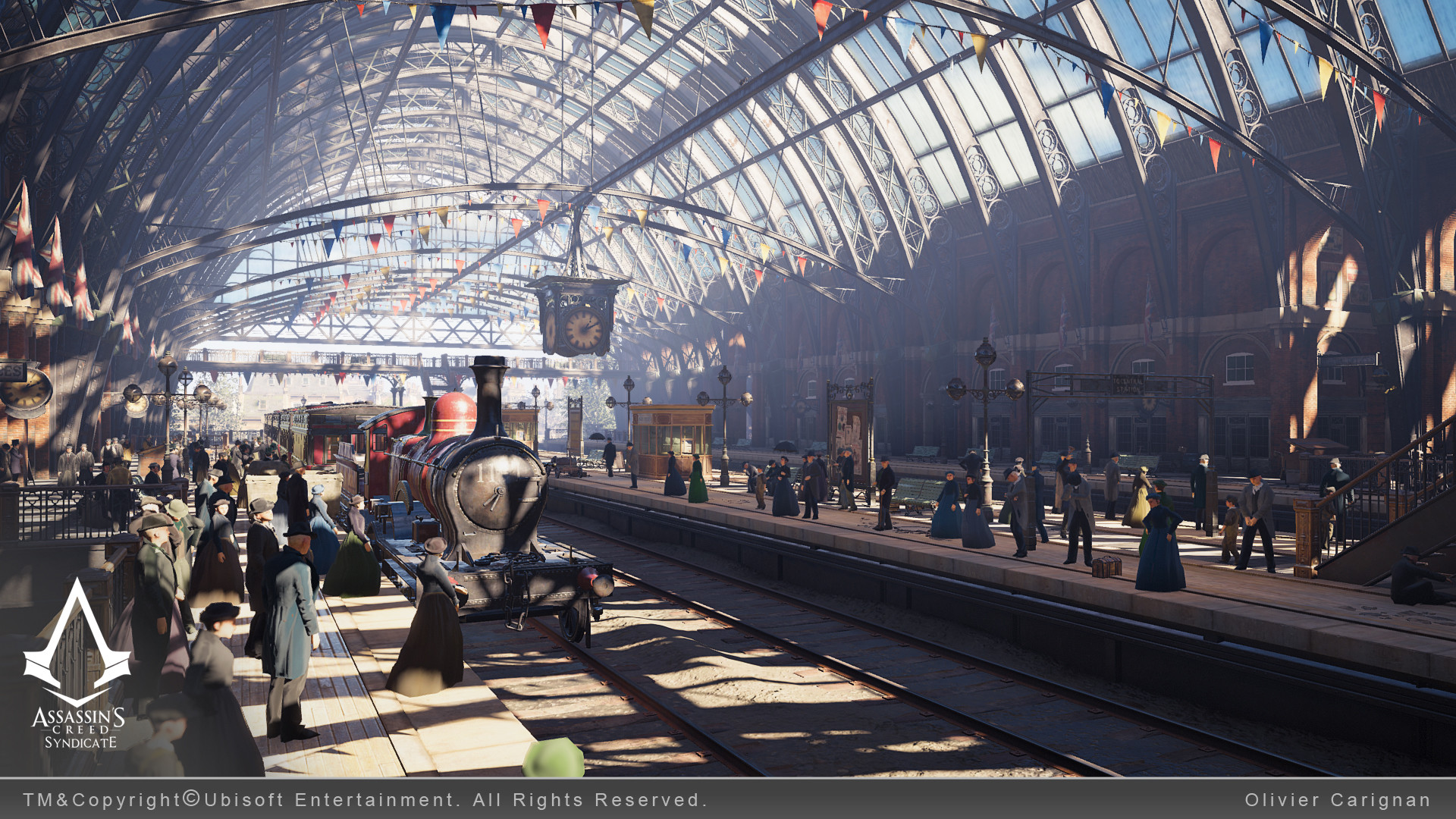 ArtStation - Assassin's Creed Syndicate Train Stations, Olivier Carignan