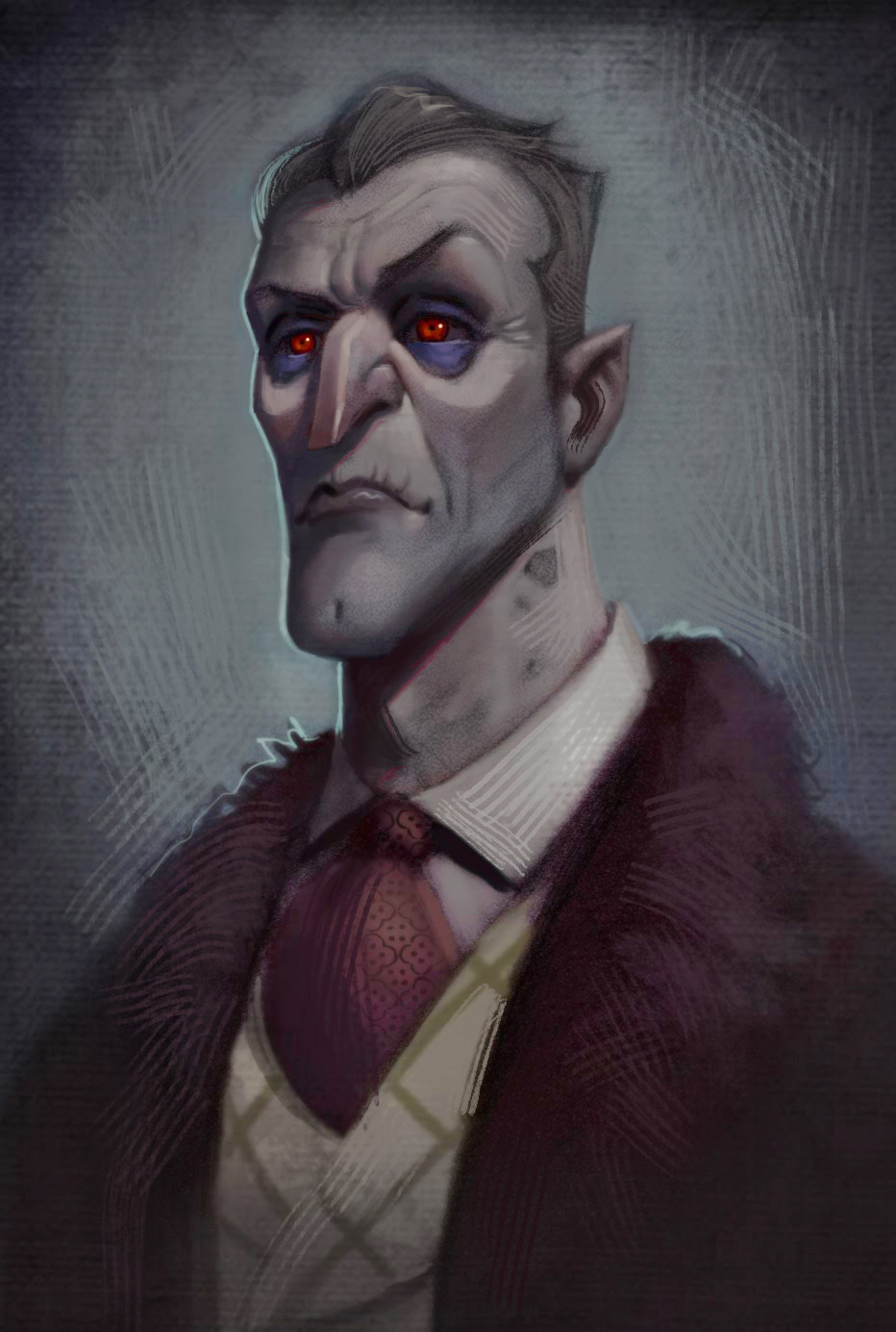 Artstation Dracula Portrait Josh Black