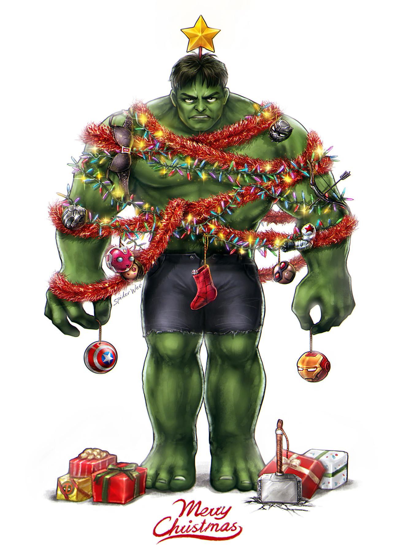 ArtStation Christmas Tree Merry Christmas SpiderWee