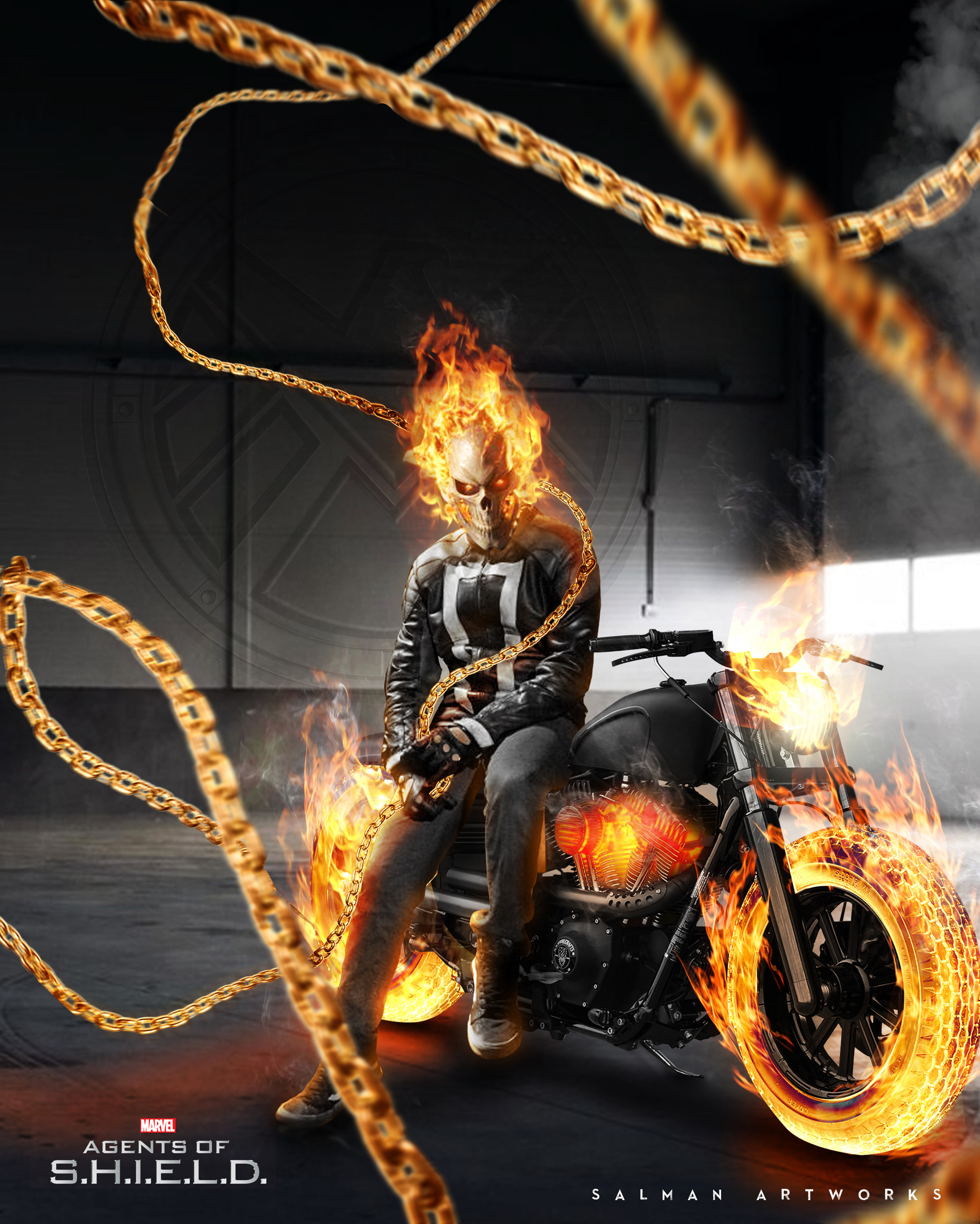 Motorcycle Ghost Rider 2