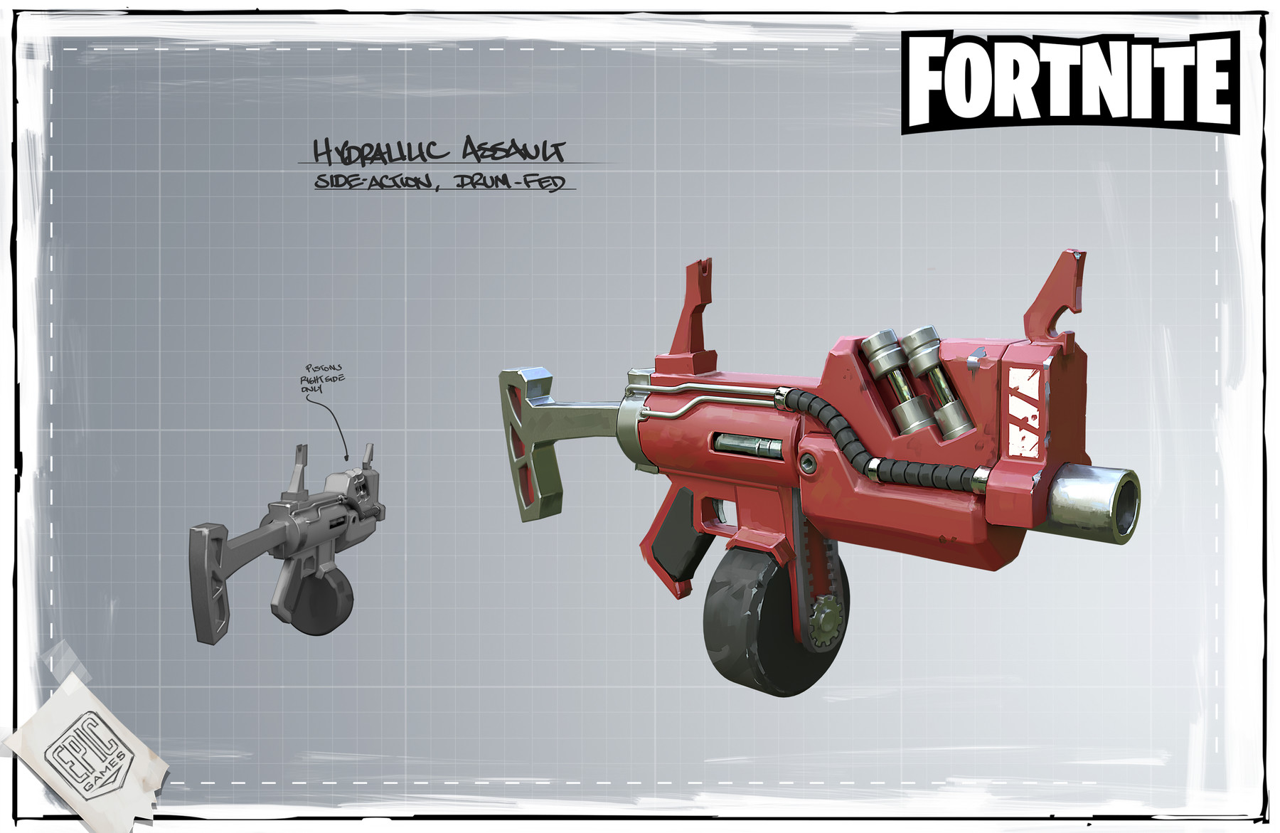 ArtStation Fortnite Hydraulic Weapons Mark Behm