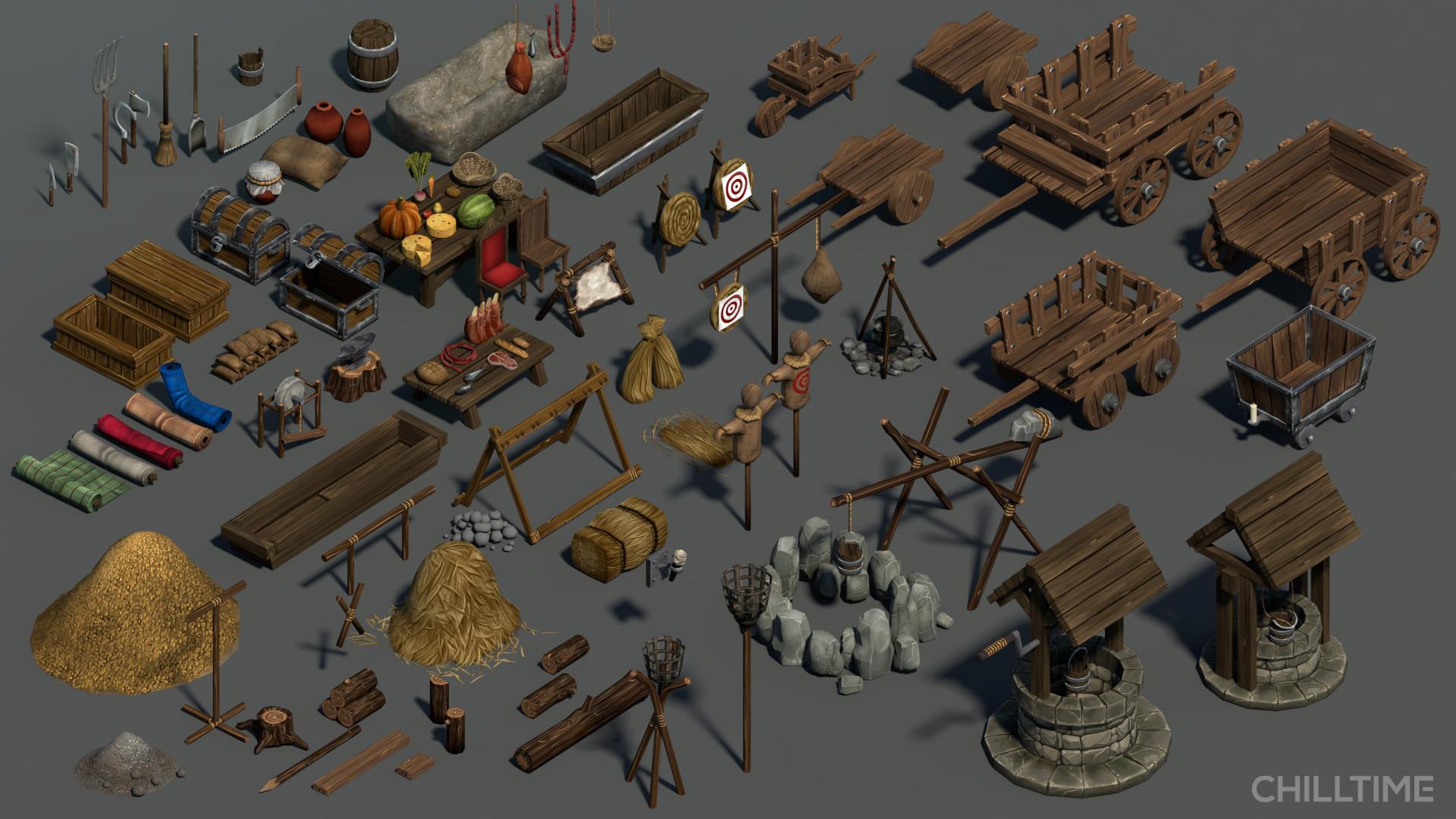 Artstation Medieval Game Assets Joana Salgueiro
