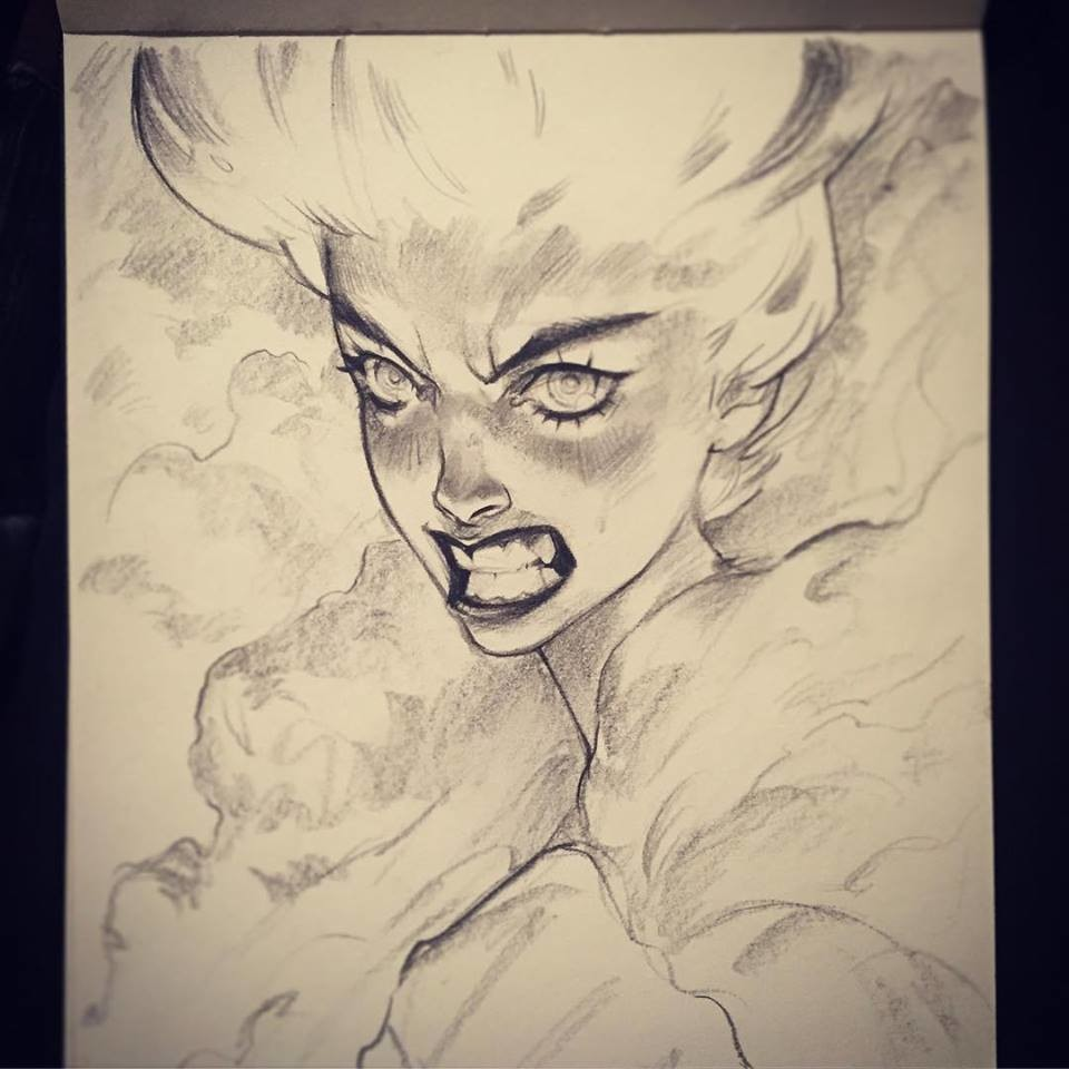 """""""Fire"""" - Traditionnal sketch"""