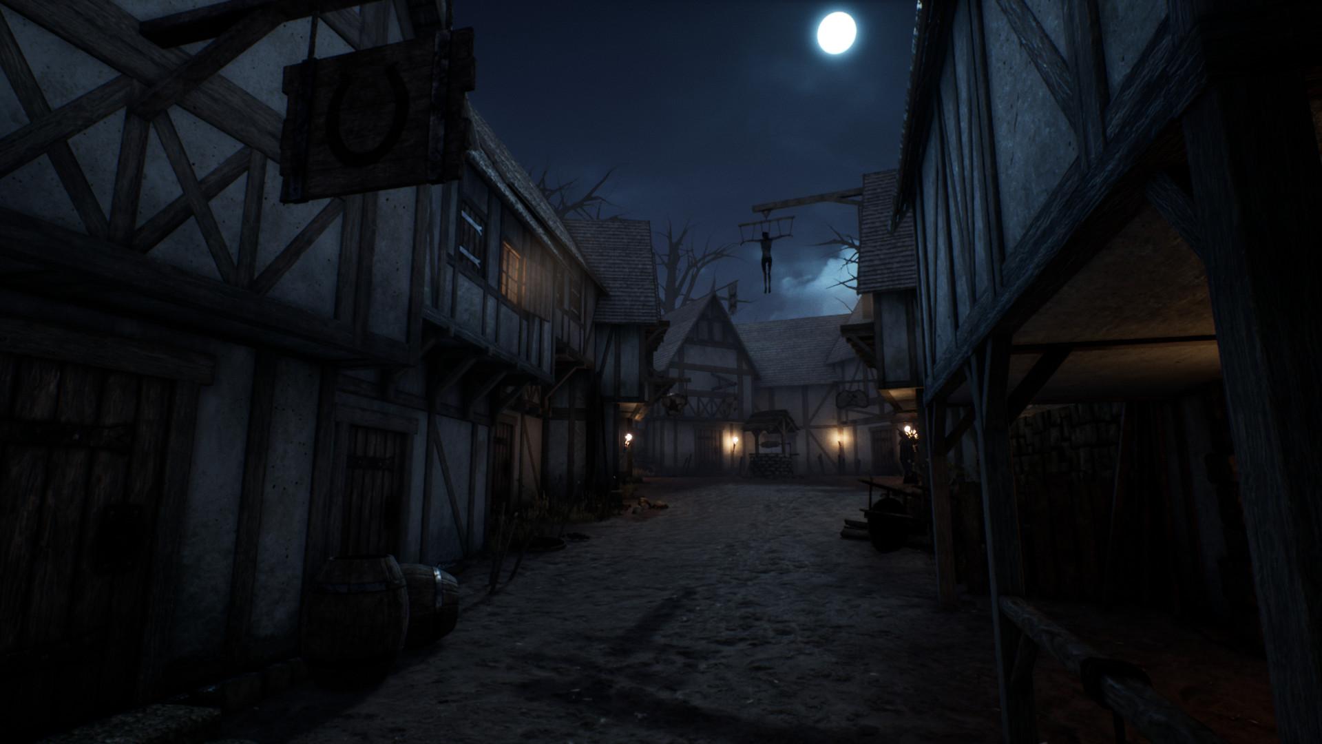 Artstation Dark Medieval Village Carl Nilsson