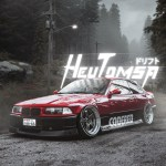 Artstation Japan Drift Car In Mountain Forest Bmw E36 Neon Artem Kabachenko