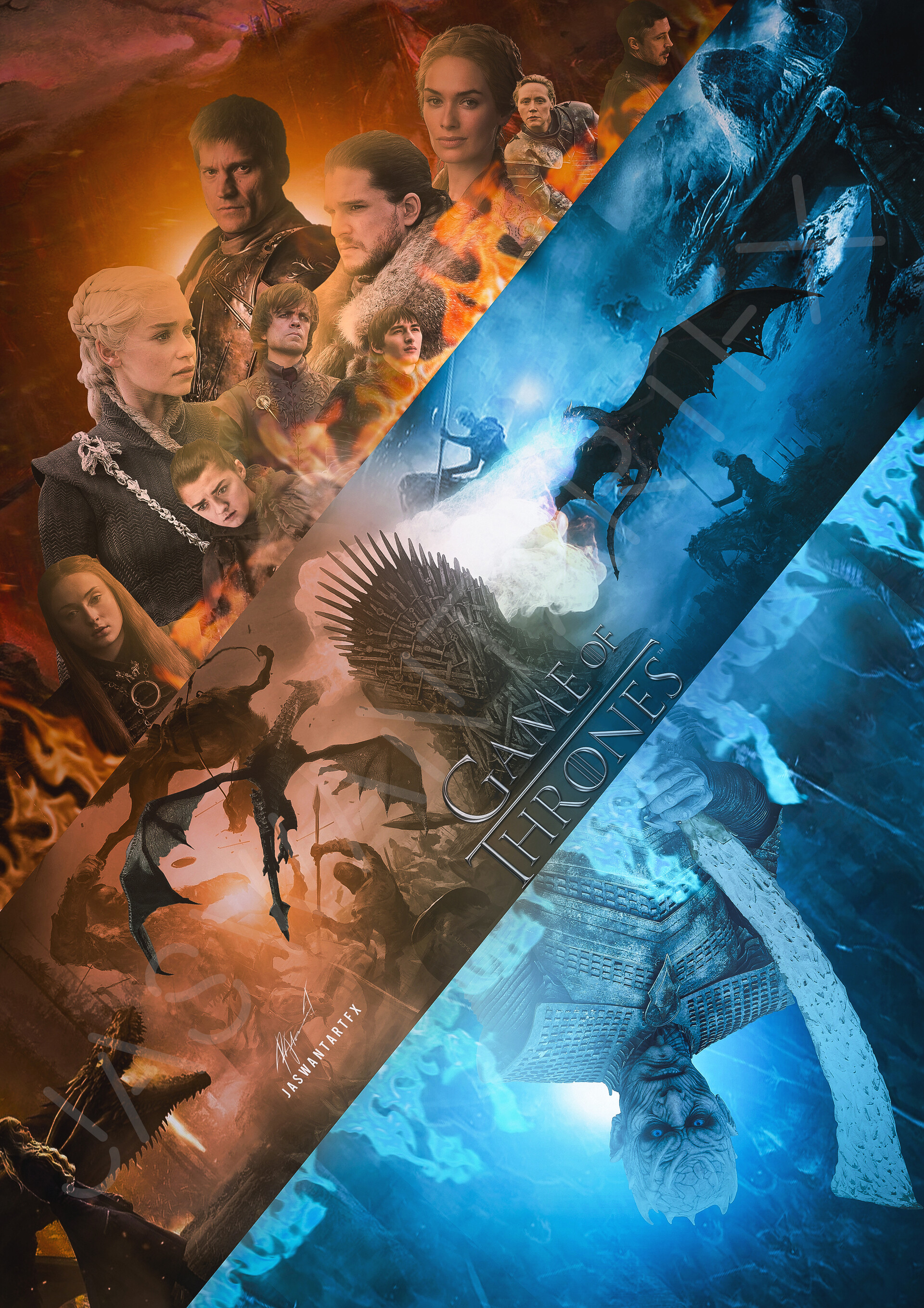 jaswant r game of thrones poster art