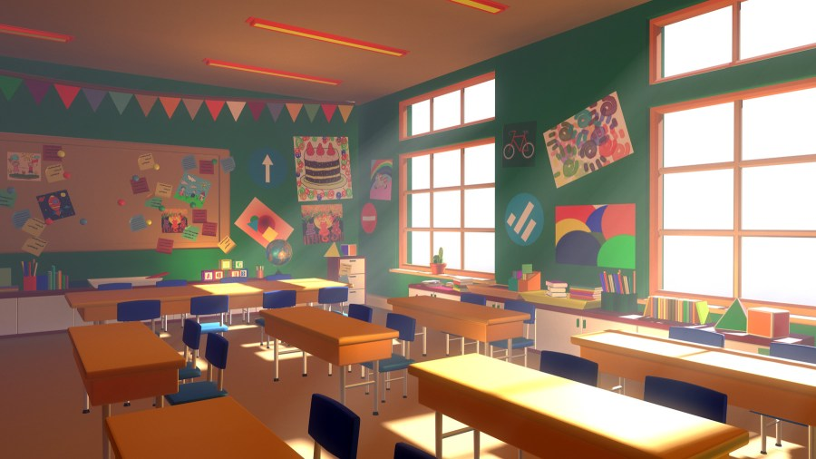 ArtStation - Asset - Cartoons - Background - Classroom ...