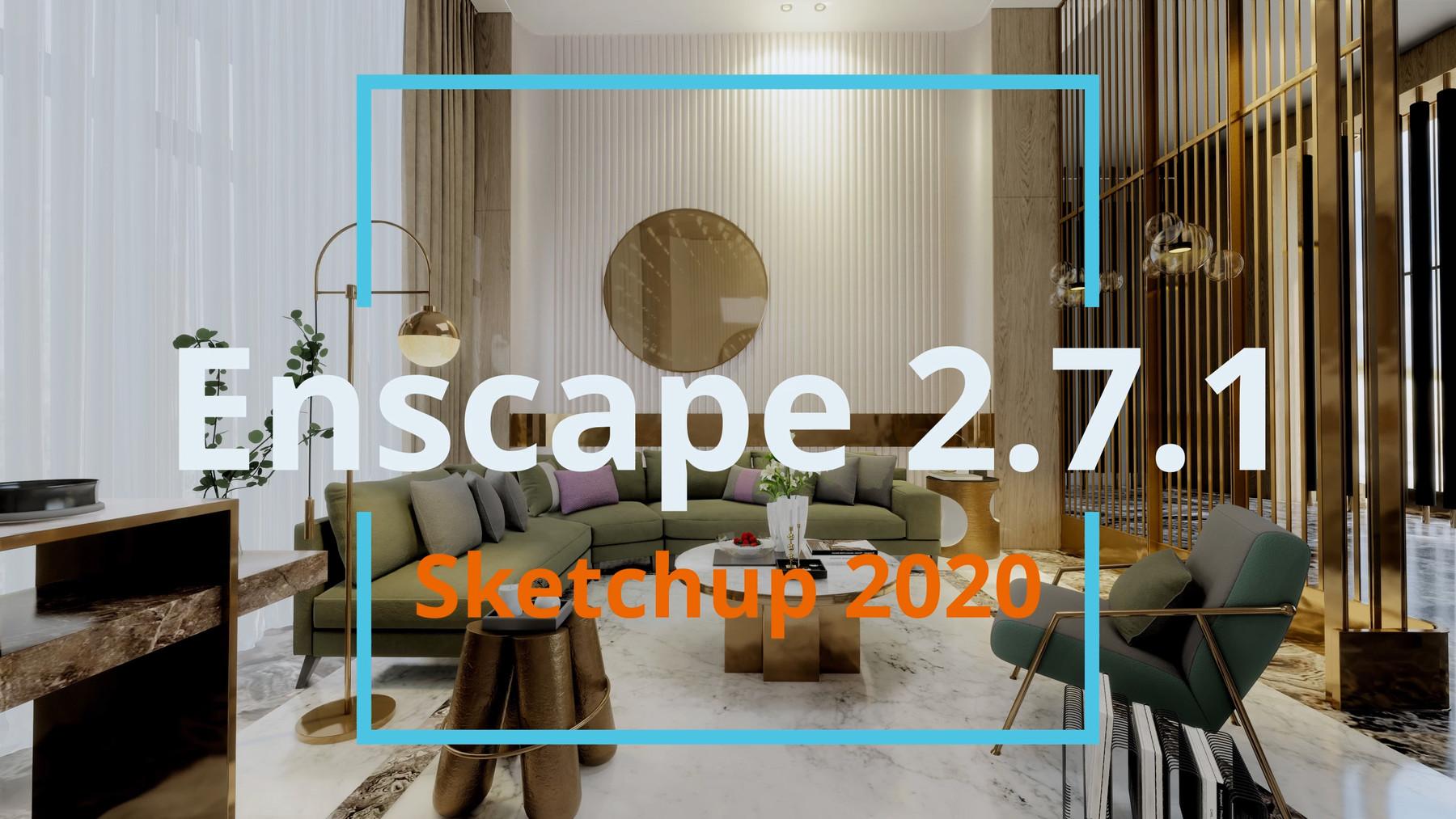 free download sofa area enscape 2 7 1 sketchup 2020