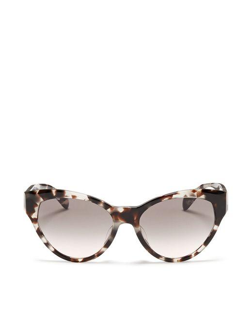 Prada Tortoiseshell Acetate Cat Eye Sunglasses in Brown ...