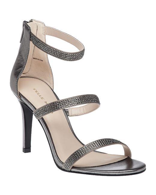 Pelle moda Greta Crystal Cutout Slide Sandal in Black   Lyst