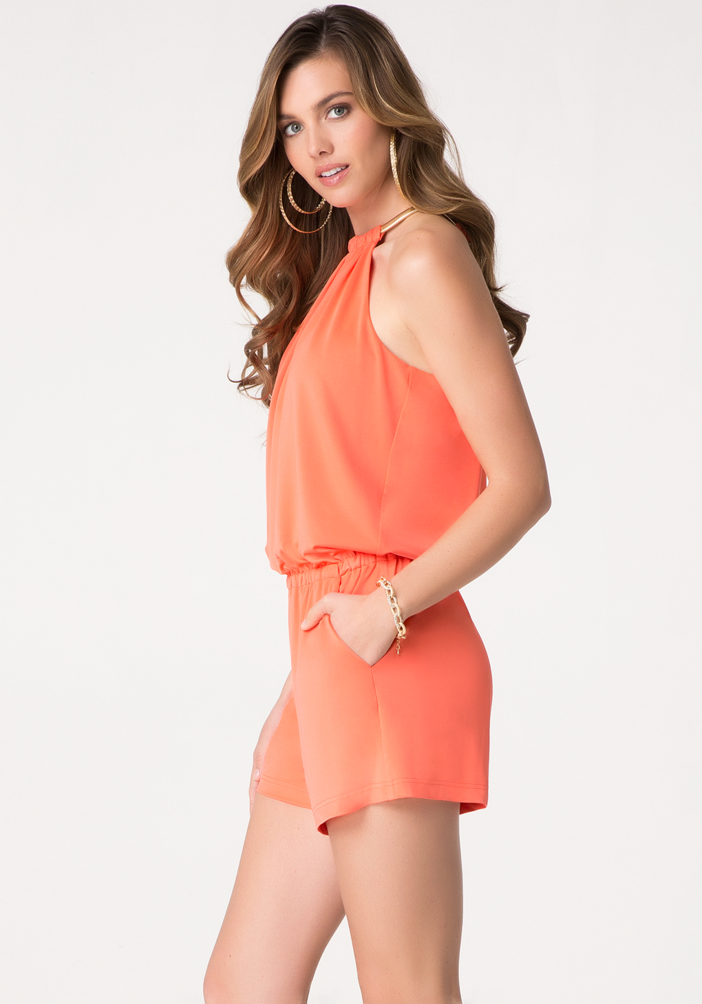 Jessica Simpson Pink Jumpsuit Front
