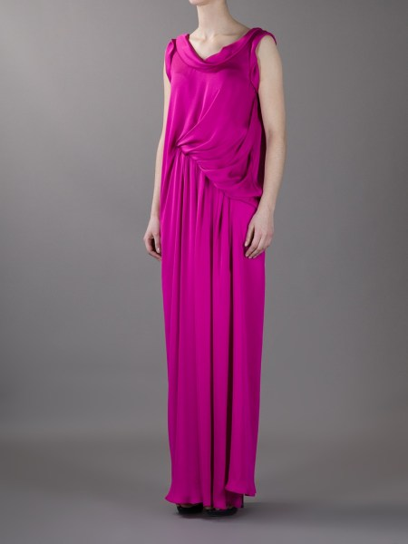Lyst   Lanvin Sleeveless Evening Dress in Purple