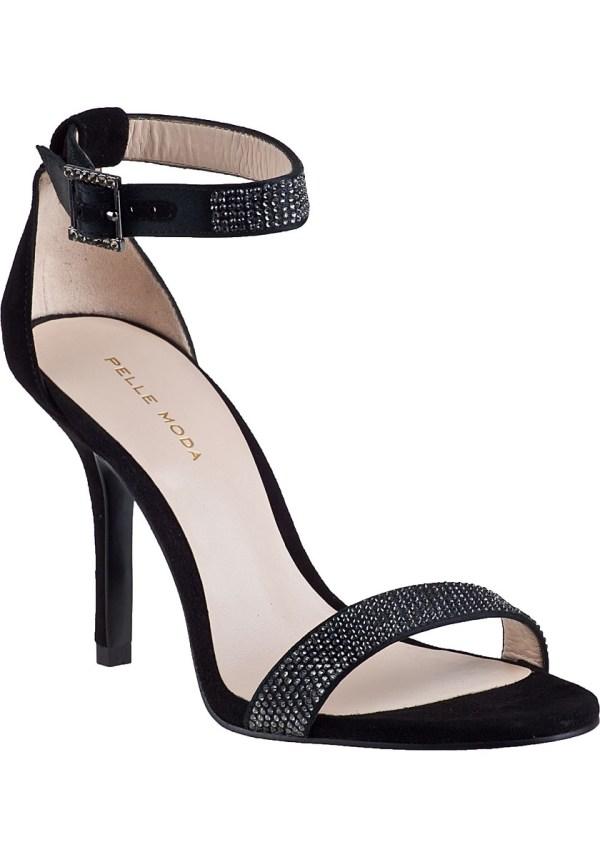 Pelle moda Kacey Evening Sandal Black Suede in Black   Lyst