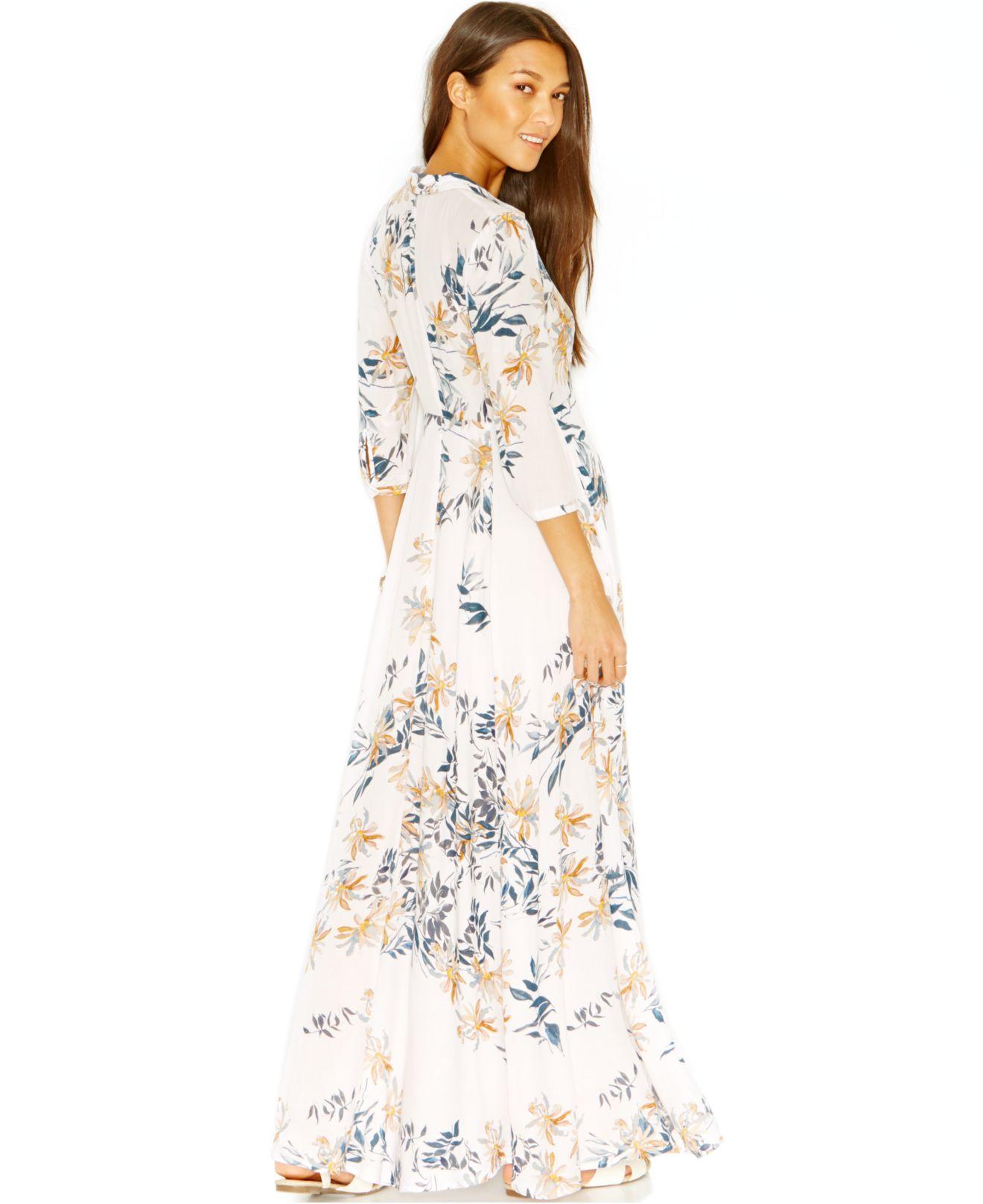 Floral Dress Maxi White
