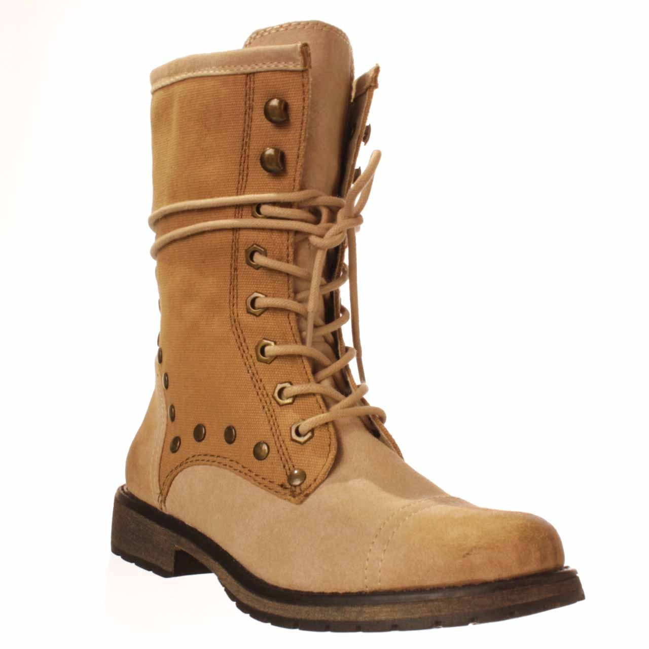 Lyst Roxy Concord Combat Boot In Brown