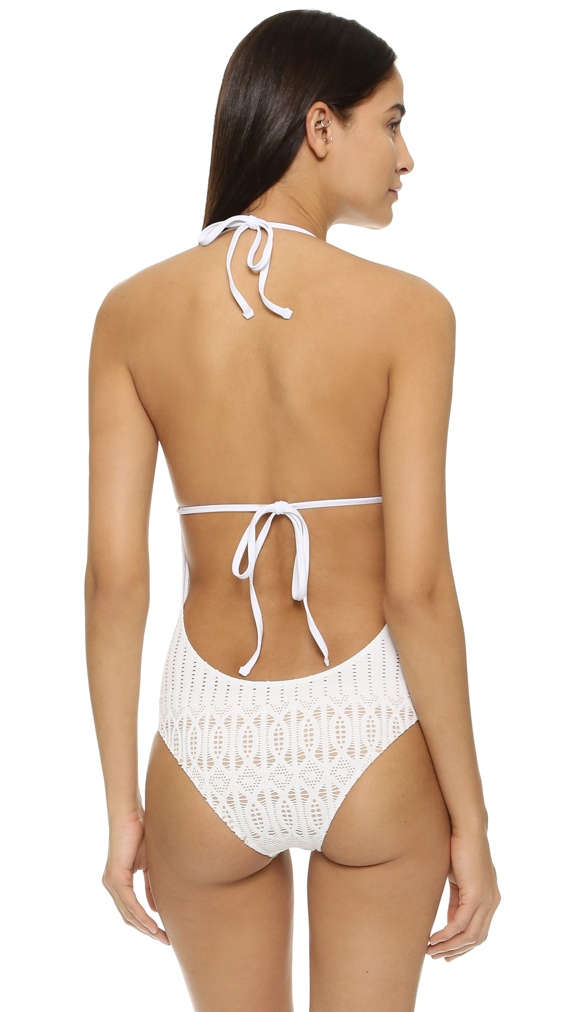 Nightcap Spiral Lace One Piece Swimsuit In White Lyst