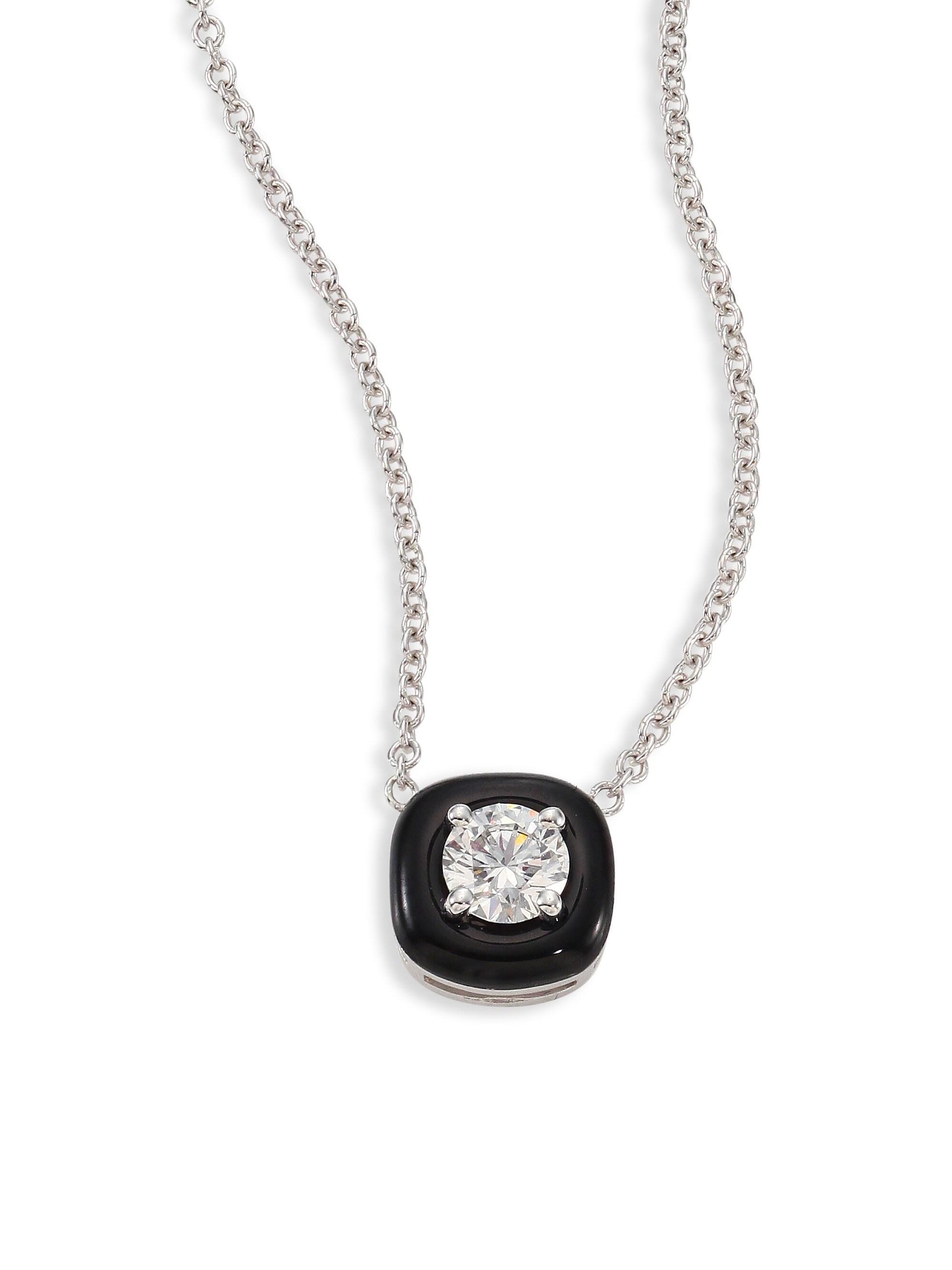 Nikos Koulis Women S Oui Diamond Enamel Amp 18k White Gold