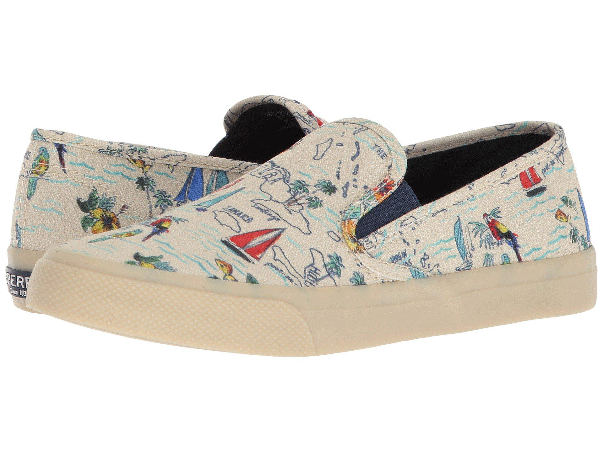 Lyst   Sperry Top Sider Seaside Novelty  natural Multi Map  Women s     View fullscreen