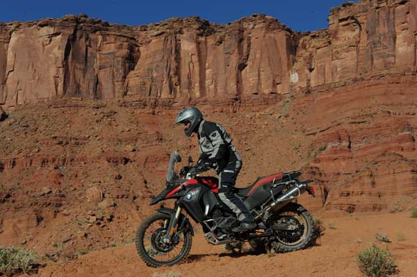 BMW F 800 GS Adventure in red rock country