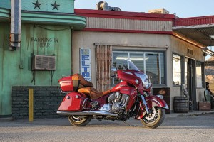 with the Indian roadmaster, the company has its sites set on Harley's touring flagships.