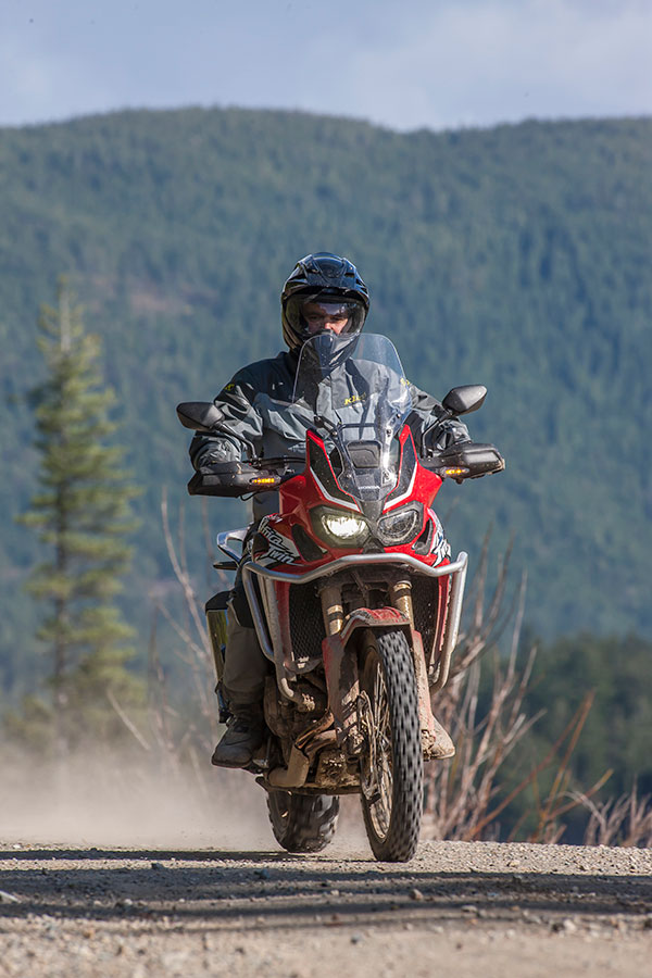 2016 Honda Africa Twin motorcycle review in the hills of British Columbia