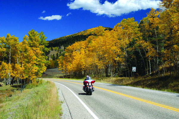 Colorado mountain passes by motorcycle