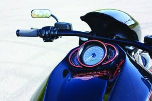 Barnes Harley-Davidson Custom black Night Rod tank gauges