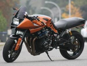 custom orange katana