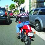 riding a triumph through la streets