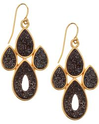 Marcia Moran Druzy Paw Chandelier Earrings Lyst