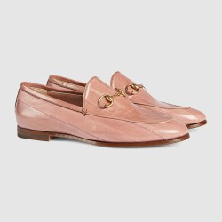b78d90e7f63 Lyst Gucci Jordaan Eel Loafer In Pink