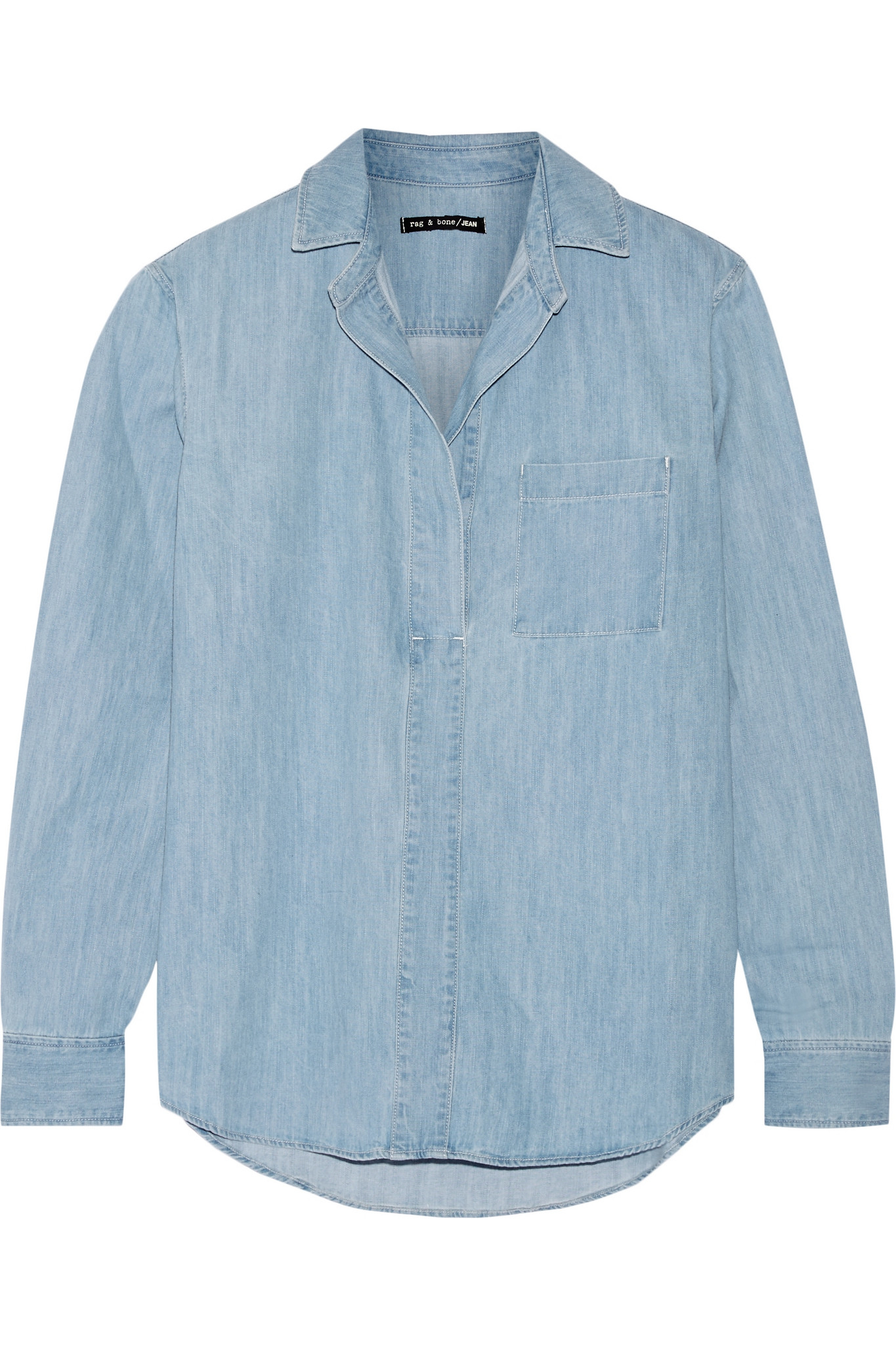 Lyst Rag Amp Bone Leeds Denim Shirt In Blue