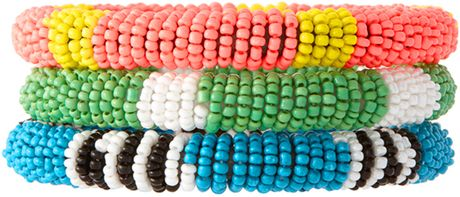 Asos Collection Asos Seedbead Bangle Pack in Multicolor (multi)