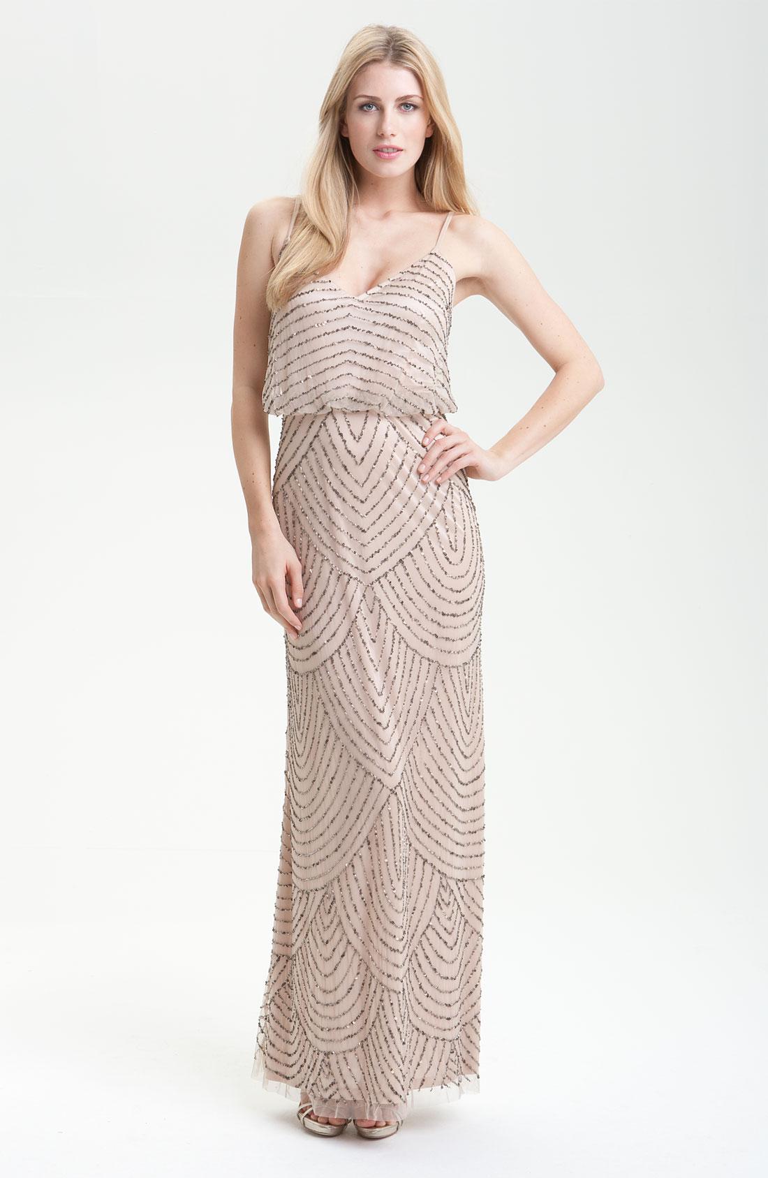 Js Collections Sequin Blouson Gown