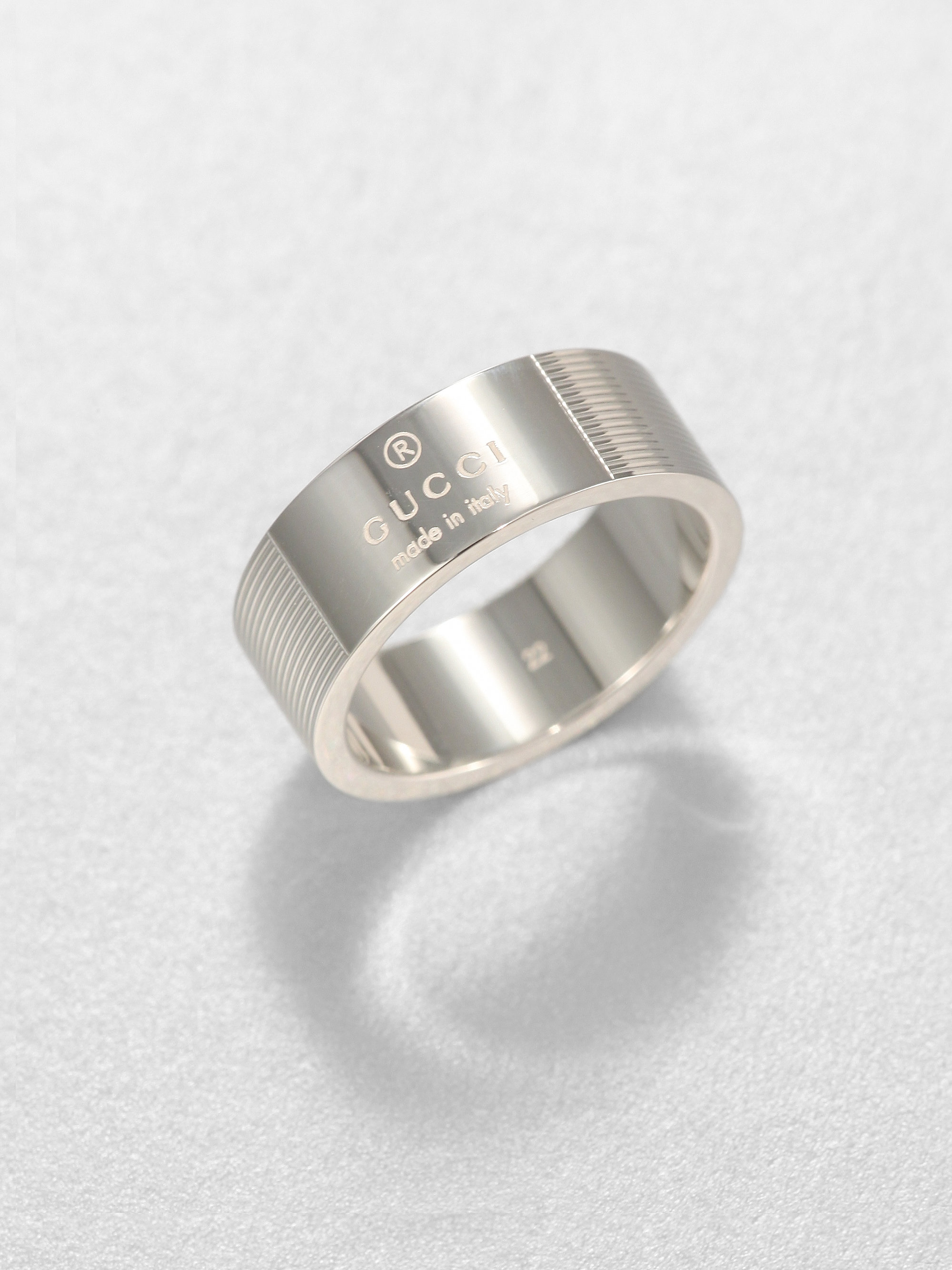 Gucci Stripes Ring In Metallic For Men Lyst