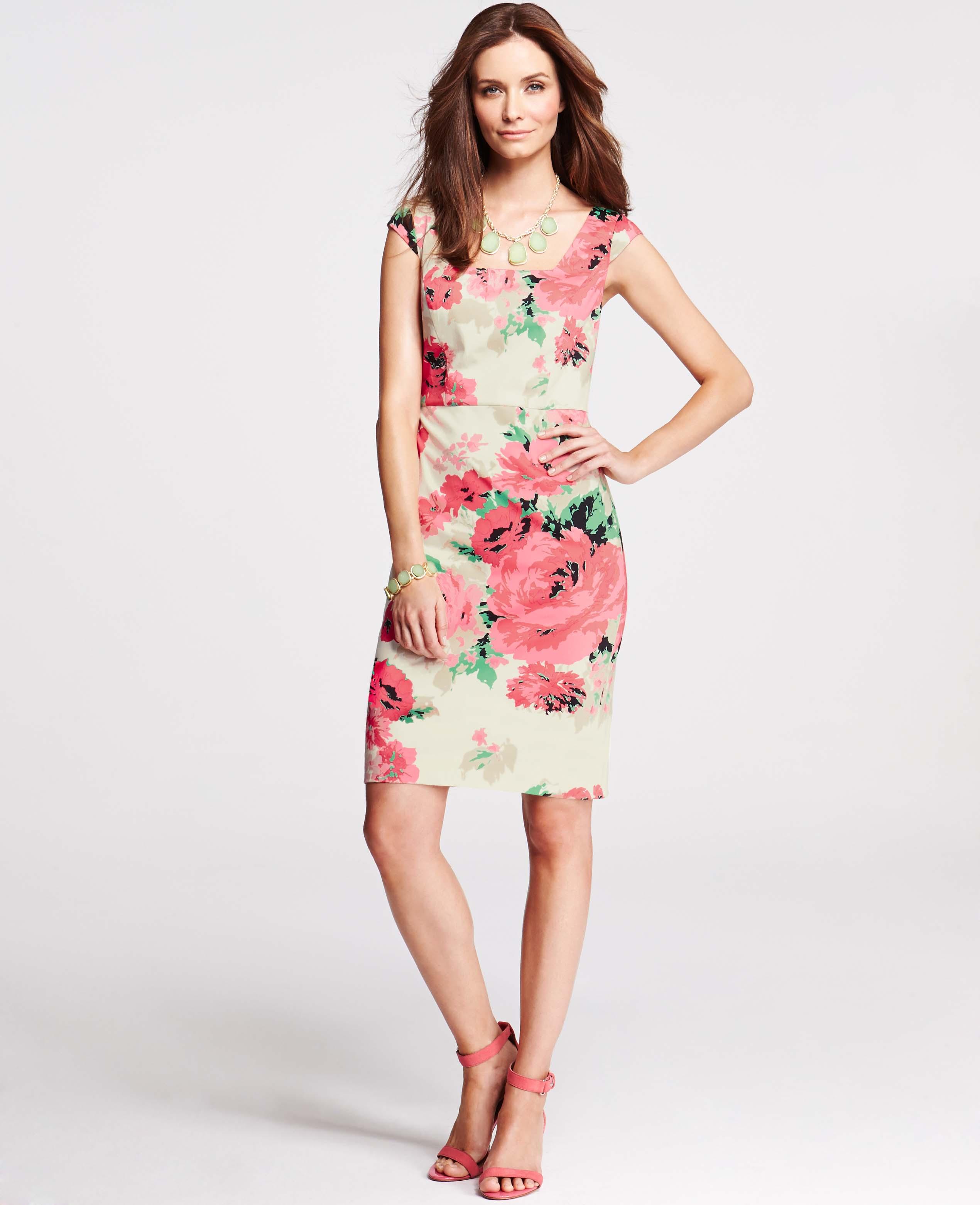 Ann Taylor Floral Sheath Dress