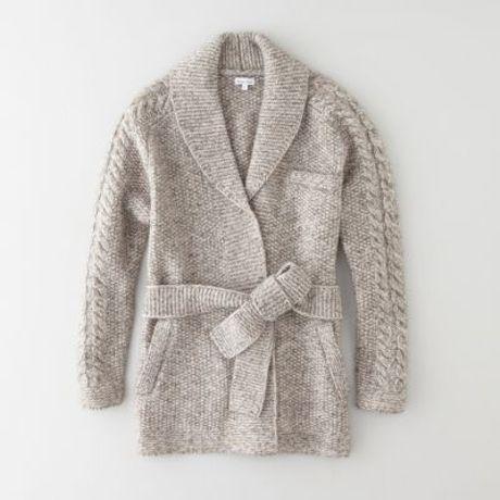 Steven Alan Luke Wrap Sweater in Gray (GREY/IVORY) - Lyst