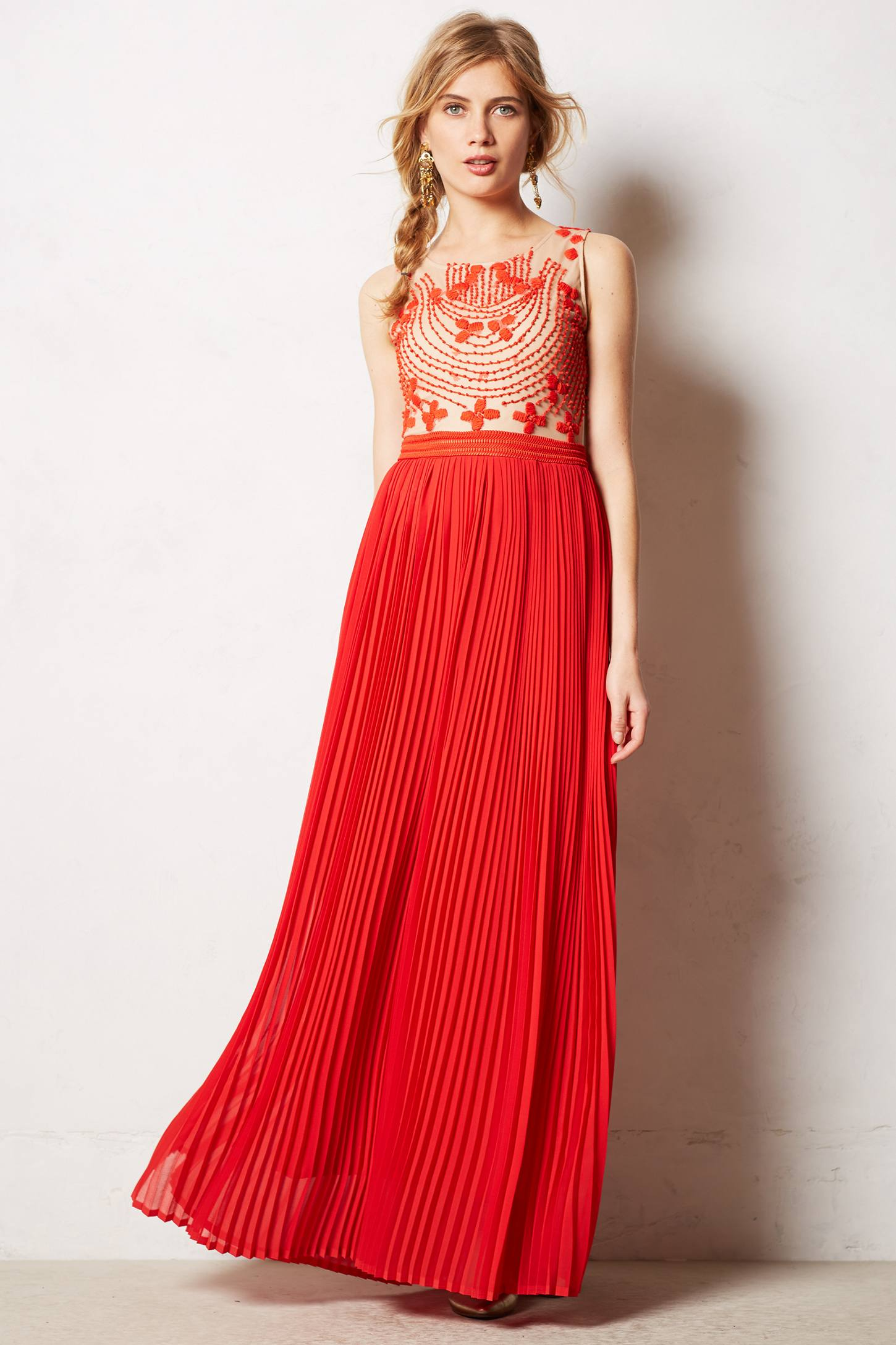 Anthropologie Rubied Dusk Dress In Red Lyst