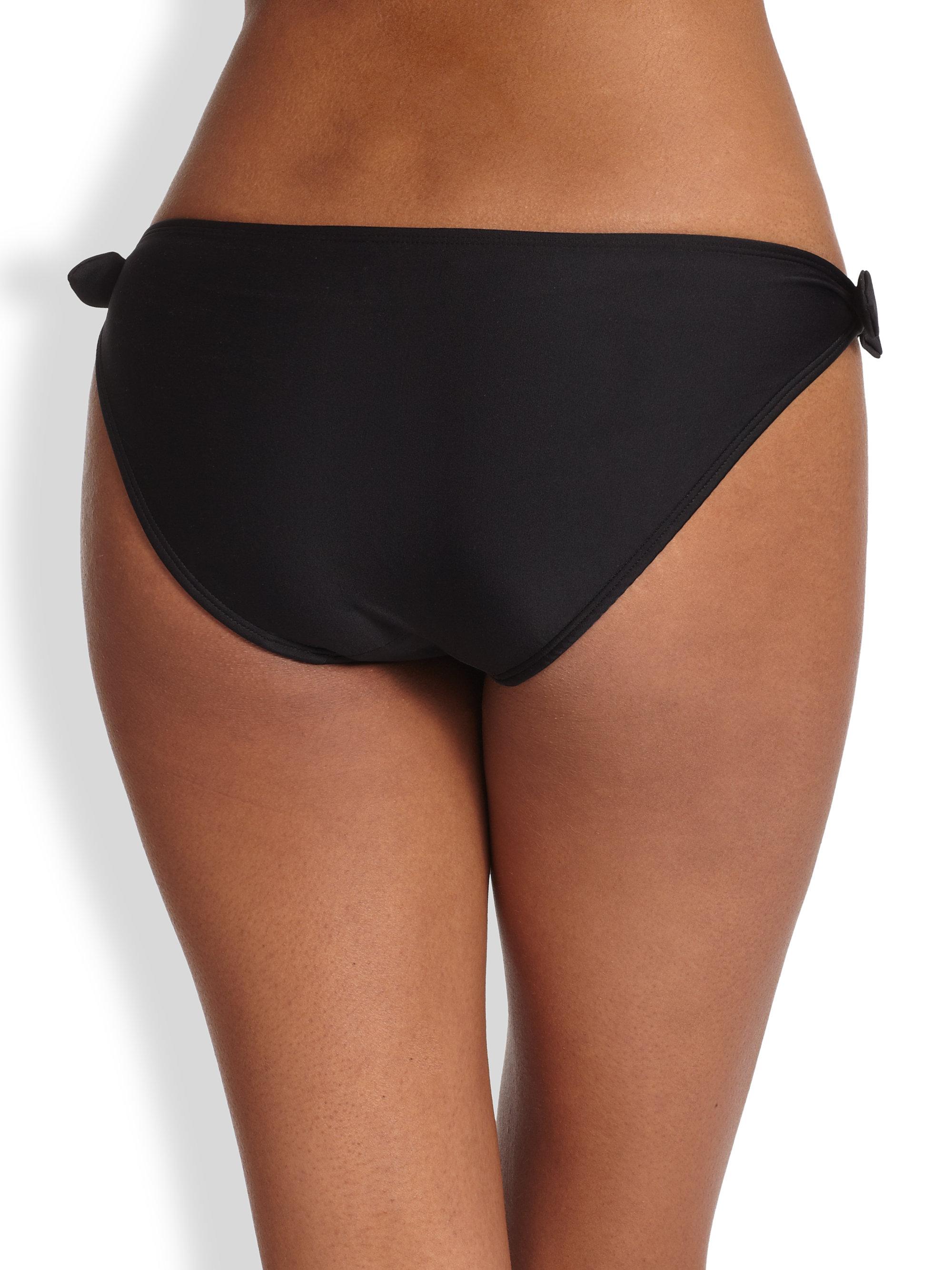 Shoshanna Bow Bikini Bottom In Black Lyst