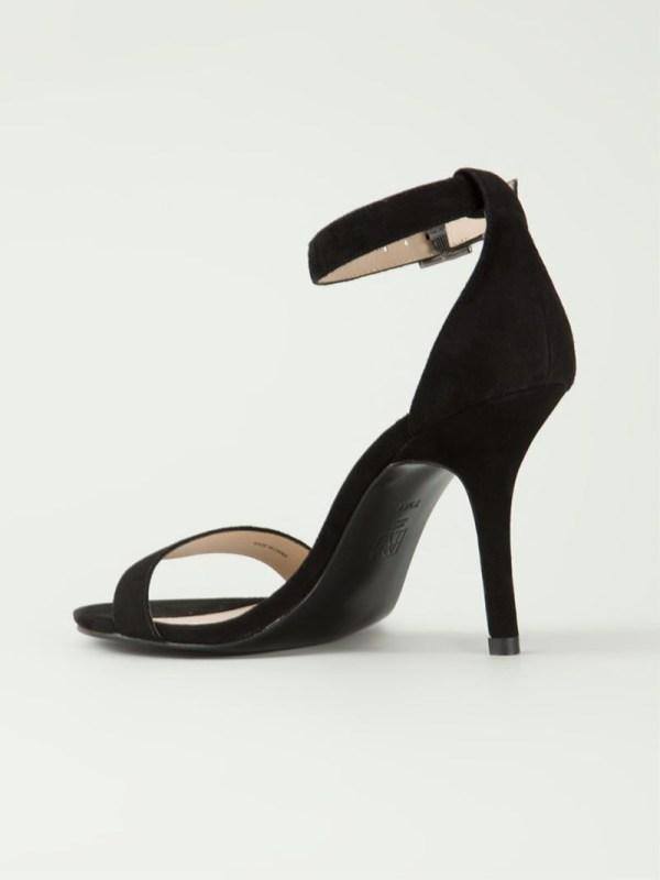 Lyst - Pelle moda Kacey Suede Sandals in Black